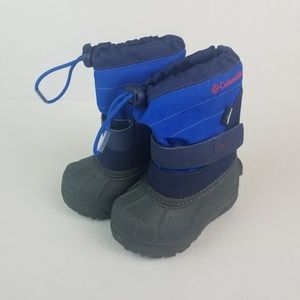 Boy Columbia Snow Boots Size 6 Blue/Gray